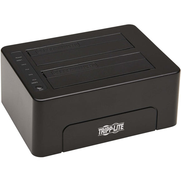 Tripp Lite U339-E02 Drive Enclosure Serial ATA-600 - USB 3.0 Type B Host Interface - UASP Support External - Black