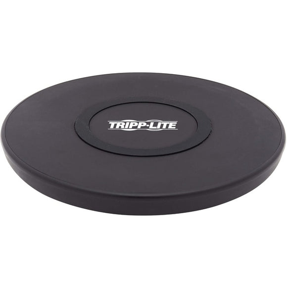 Tripp Lite Wireless Phone Charger - 10W, Qi Certified, Apple and Samsung Compatible, Black