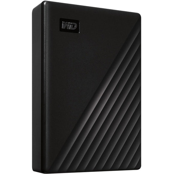 WD My Passport WDBPKJ0050BBK-WESN 5 TB Portable Hard Drive - External - Black