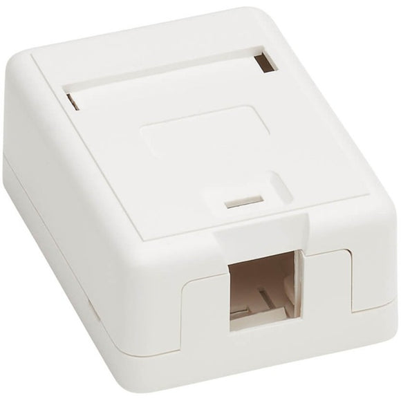Tripp Lite Surface-Mount Box for Keystone Jack - 1 Port, White