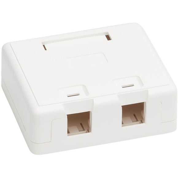Tripp Lite Surface-Mount Box for Keystone Jacks - 2 Ports, White