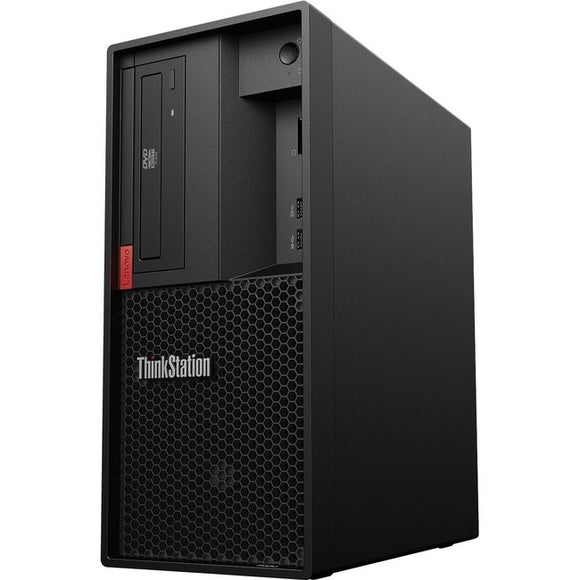 Lenovo ThinkStation P330 30D0S08F00 Workstation - 1 x Xeon E-2274G - 16 GB RAM - 512 GB SSD - Tower - Raven Black