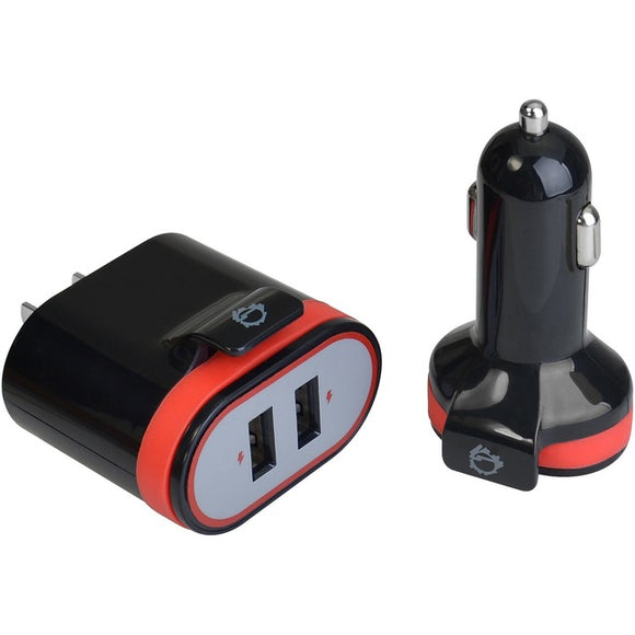 SIIG Fast Charging USB Wall Charger & Car Charger Bundle Pack - Black