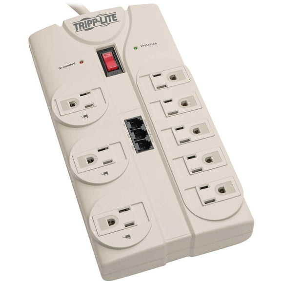 Tripp Lite Surge Protector Power Strip 120V 5-15R 8 Outlet RJ11 8' Cord 2160 Joule