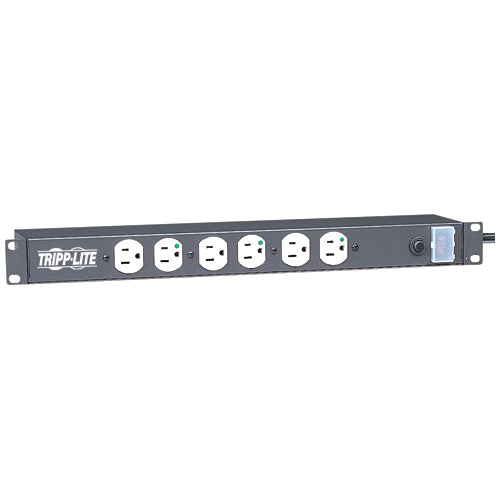 Tripp Lite Power Strip Hospital Medical Rackmount 120V 5-15R 12 Outlet 1URM
