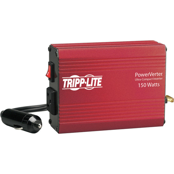 Tripp Lite Portable Auto Inverter 150W 12V DC to 120V AC 1 Outlet 5-15R