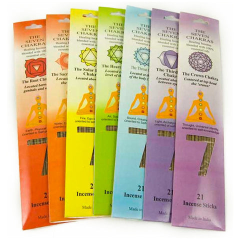Seven Chakras Incense Set | Elnique