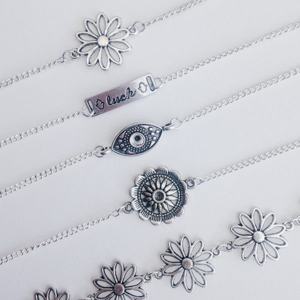 Silver Plated Boho Choker Necklaces | Elnique