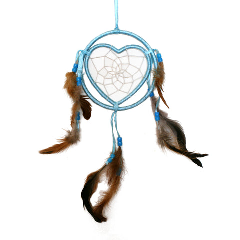 ABIGAIL. Baby Blue Heart Dreamcatcher | Elnique