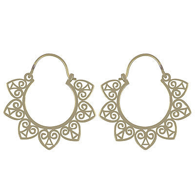 ARISTELLA. Brass Spiked Heart Hoop Earrings | Elnique