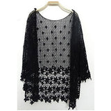HERMIONE. Boho Crochet Knit Cardigan *BLACK OR WHITE* | Elnique