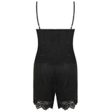 IMOGEN. Boho Black Lace Cami Top and Shorts Co-ord Set | Elnique