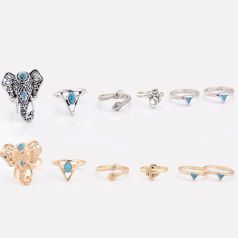 BOHEMIAN NIGHTS. Silver Tone Ring Set - Choose Your Ring | Elnique