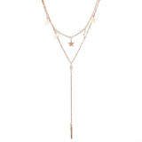 DESTINY. Gold Star Lariat Necklace | Elnique