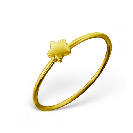 ASTA. Gold Star Ring (.925 Sterling Silver) | Elnique