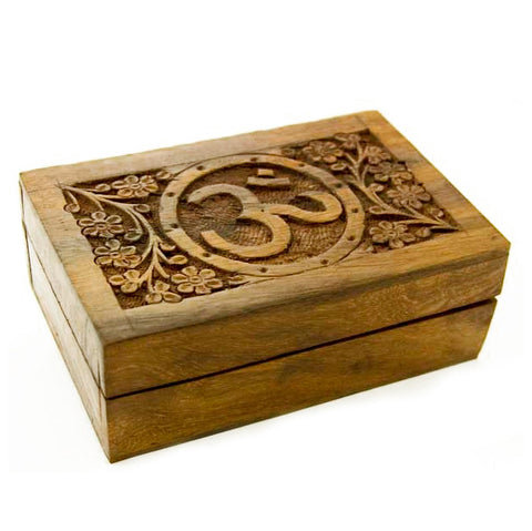 Wooden Om / Ohm Trinket Box | Elnique
