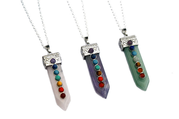 Crystal Chakra Healing Point Pendant | Elnique