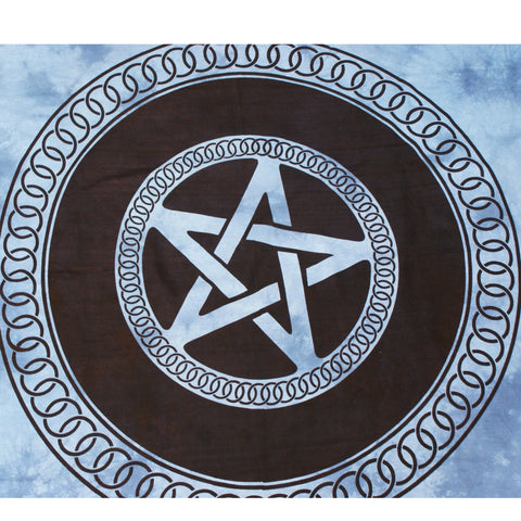 Blue Tie Dye Pentagram Tapestry | Elnique