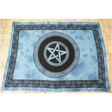 Blue Tie Dye Pentagram Tapestry Wall Hanging *SIZE OPTIONS* | Elnique
