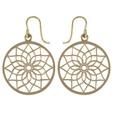 ESHA. Brass Dreamcatcher Earrings | Elnique