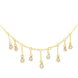 ESTRELLA. Gold Tone Diamanté Crystal Necklace | Elnique