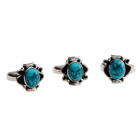 ELODIE. Turquoise Statement Ring (.925 Sterling Silver) | Elnique