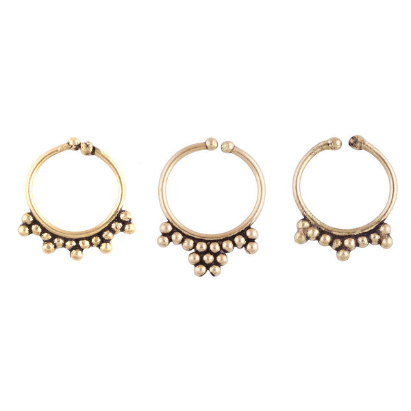 Brass Faux Nose Ring | Elnique