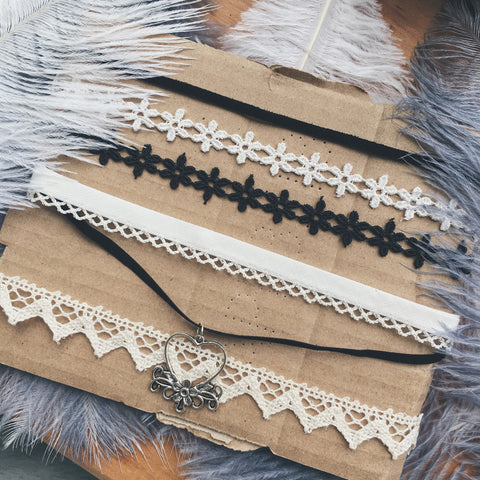 Fabric/Lace/Crochet/Suede Choker Necklaces | Elnique