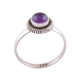 JUNO. Small Circular Amethyst Ring (.925 Sterling Silver) | Elnique