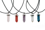 Lucky Point Crystal Choker Necklace *CORD & COLOUR OPTIONS | Elnique