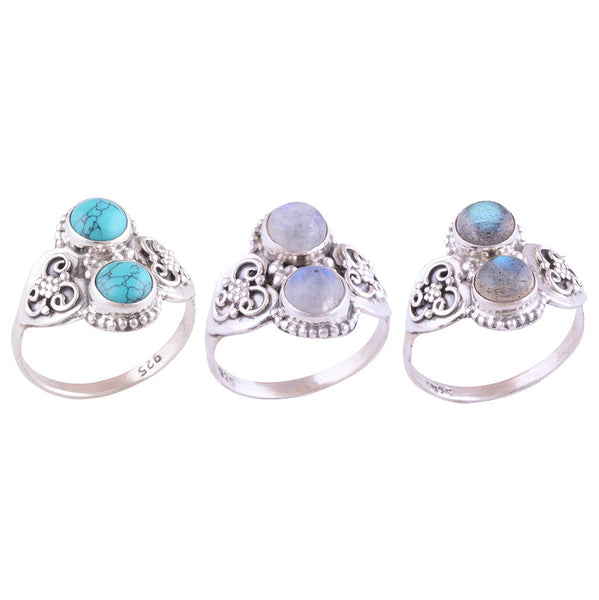 NADYA. Gemstone Statement Ring (.925 Sterling Silver) | Elnique