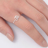 NORA. Delicate Om Midi Ring (.925 Sterling Silver) | Elnique