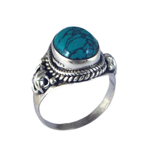 PALOMA. Turquoise Ring (.925 Sterling Silver) | Elnique