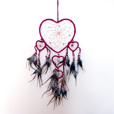 PIPER. Cerise Heart Dreamcatcher | Elnique