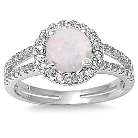 PENELOPE. Opal CZ Ring (.925 Sterling Silver) | Elnique