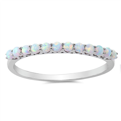 EPIPHANY. Opal Eternity Stacking Ring (.925 Sterling Silver) | Elnique