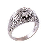 REMI. 3D Flower Ring (.925 Sterling Silver) | Elnique