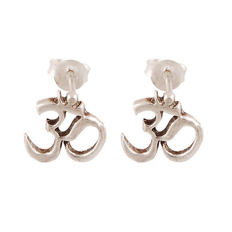 CECE. Om/Ohm Stud Earrings (.925 Sterling Silver) | Elnique