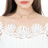 STARGAZE. Gold Moon & Stars Layered Necklace | Elnique