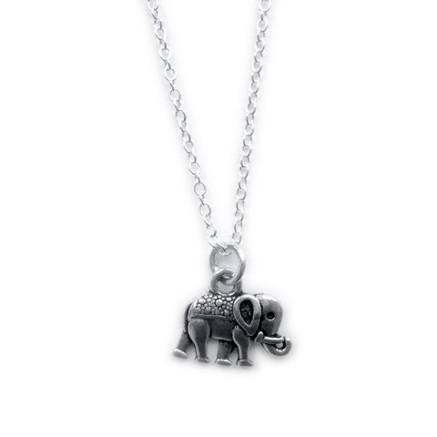 SUZIE. Mini Silver Elephant Necklace | Elnique