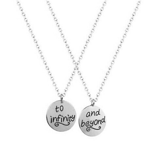 """To Infinity And Beyond"" Silver Necklace Gift Set 