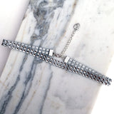 VIXEN. Two Row Silver Diamanté Choker | Elnique