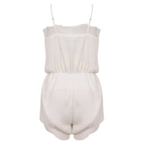 CARYS. White Lace Playsuit | Elnique
