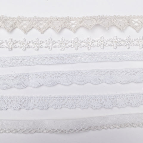 Assorted Neutral Cream Crochet Chokers | Elnique