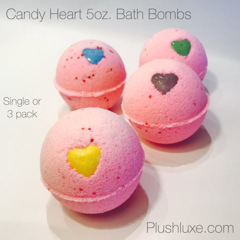 Candy Heart Bath Bombs