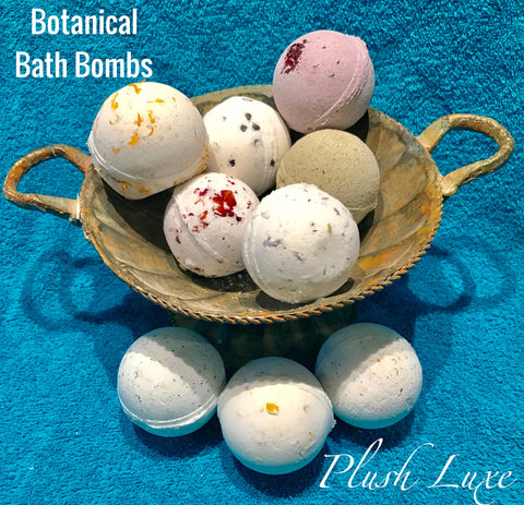 Sampler Pack of all 9 Botanical Bath Bomb Fizzies
