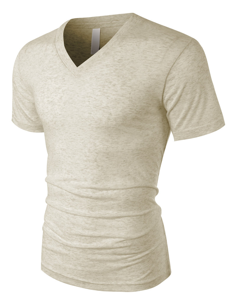 1cc430eab73 LE3NO PREMIUM Mens Soft Tri-Blend Relaxed Fit Short Sleeve V Neck T Shirt  (. OATMEALTRIBLEND OATMEALTRIBLEND OATMEALTRIBLEND OATMEALTRIBLEND ...