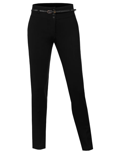 Womens Classic Suit Pants with Belt (WB769)