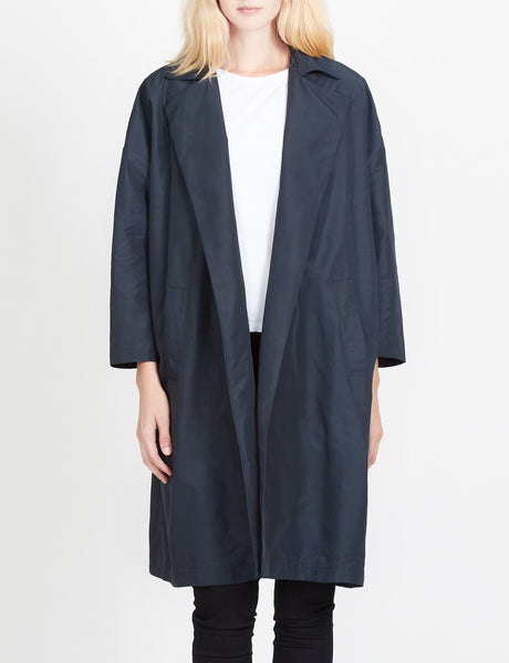 Womens Lightweight Oversized Open Front Trench Coat (WJC2940)