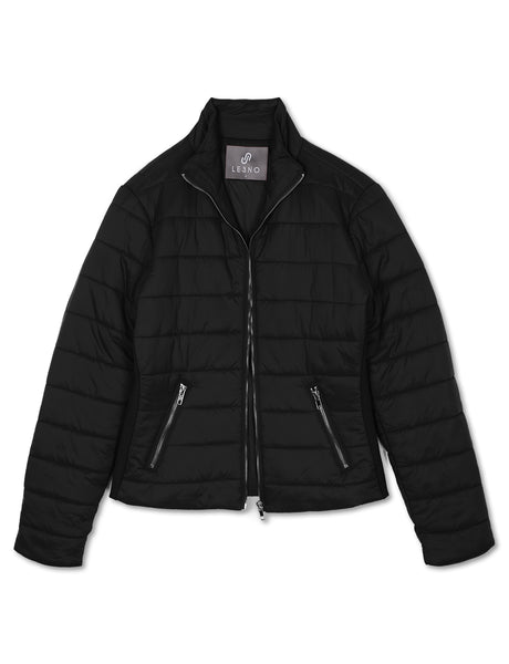 Womens Classic Zip Up Puffer Jacket with Pocket (WJC4882)